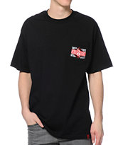 REBEL8 Trusted Leaders Black Pocket Tee Shirt