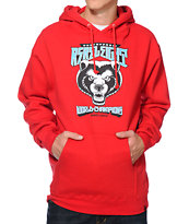 REBEL8 Unstoppable Red Pullover Hoodie