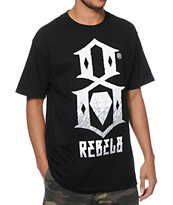 REBEL8 Up In Flames Black Tee Shirt