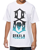 REBEL8 Up In Flames White Tee Shirt