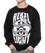 REBEL8 World Famous Black Crew Neck Sweatshirt