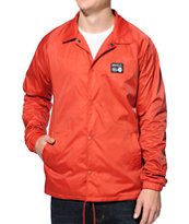 RVCA ANP Red Coach Jacket