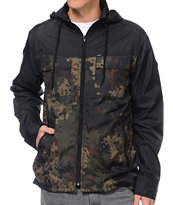 RVCA Bay Blocker Black & Camo Windbreaker