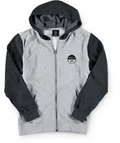 RVCA Boys Divide Embroidered Zip Up Hoodie