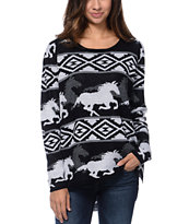 RVCA Buddy Black Crew Neck Sweater