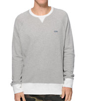 RVCA Captured Grey & White Crew Neck Sweater