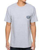 RVCA Chev Lock Up Grey Pocket Tee Shirt