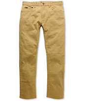 RVCA Daggers Dark Khaki Skinny Pants