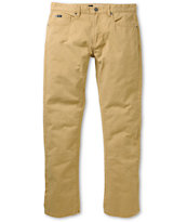 RVCA Daggers Khaki Twill Skinny Jeans