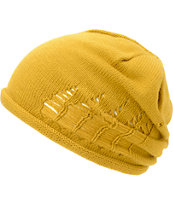 RVCA Girls Kyme Bronze Gold Beanie