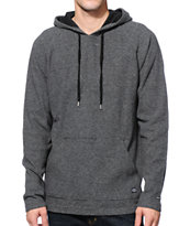 RVCA Griddle Black Long Sleeve Hooded Shirt