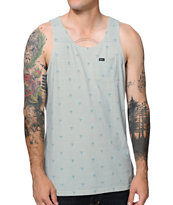 RVCA Happy Palm Green Pocket Tank Top