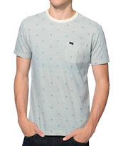 RVCA Happy Palm Green Pocket Tee Shirt