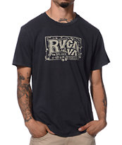 RVCA Old School II Black Tee Shirt