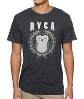 RVCA Owl Heather Black Tee Shirt