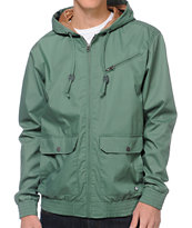 RVCA SIL II Green Hooded Jacket
