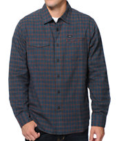 RVCA Salt Flats Dark Charcoal Long Sleeve Flannel Shirt