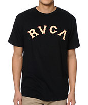 RVCA Serpent Type Black Tee Shirt