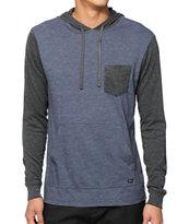 RVCA Set Up Long Sleeve Hooded Pocket Shirt