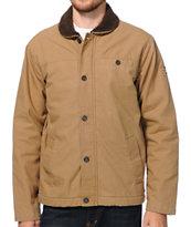 RVCA Sherpo Khaki Canvas Utility Jacket