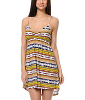 RVCA Social Rank Sundown Tribal Print Dress
