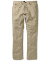 RVCA Stay Dark Khaki Twill Slim Fit Pants