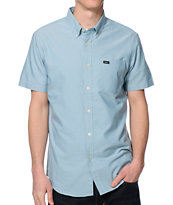 RVCA That'll Do Blue Oxford Button Up Shirt