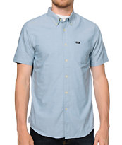 RVCA That'll Do Bright Blue Oxford Button Up Shirt
