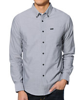 RVCA That'll Do Charcoal Long Sleeve Button Up Shirt