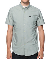 RVCA That'll Do Green Short Sleeve Button Up Shirt