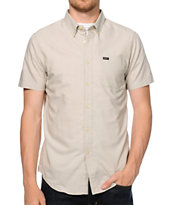 RVCA That'll Do Khaki Oxford Button Up Shirt