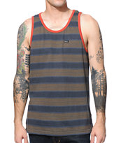 RVCA Tompkin Navy Stripe Tank Top