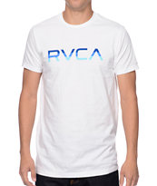 RVCA Tri Bar White Tee Shirt