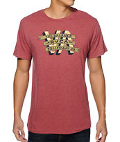 RVCA VA Banner Red Tee Shirt