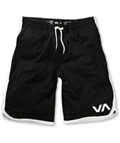 RVCA VA Black & Grey Athletic Shorts