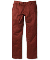 RVCA Weekender Maroon Slim Fit Twill Pants