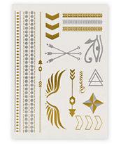 Rad Tatz Metallic Wings & Pharaoh Temporary Tattoos