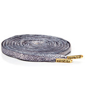 Rastaclat 36 Inch Elephant Print Grey Oval Shoe Laces