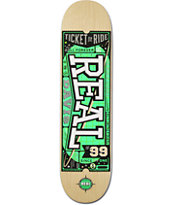 Real Davis Ticket To Ride 8.06 Skateboard Deck