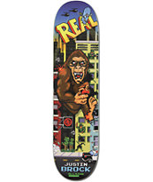 Real Justin Brock Wrecking Crew R1 8.0 Skateboard Deck
