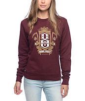 Rebel 8 Grim Burgundy Crew Neck Sweatshirt