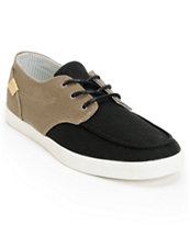 Reef Deck Hand 2 TX Brown Burlap & Black Canvas Shoe