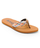 Reef Girls Mallory Scrunch Tan Sandals