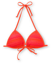 Reef Spirit Coral Crochet Molded Bikini Top