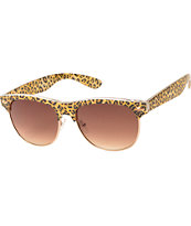 Retro Club Christina Cheetah Sunglasses