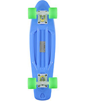 Retro Skateboards Blue, Lime Green, & White 22.5 Cruiser Complete