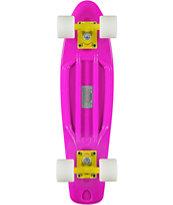 "Retro Skateboards Purple, White, & Yellow 22.5"" Cruiser Complete"