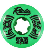 Ricta Sparx Green & Black 52mm Skateboard Wheels