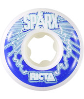 Ricta Sparx White & Red 51mm Skateboard Wheels