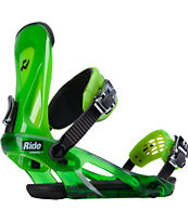 Ride KX Lime Green 2014 Snowboard Bindings
